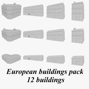 european buildings 3d 3ds