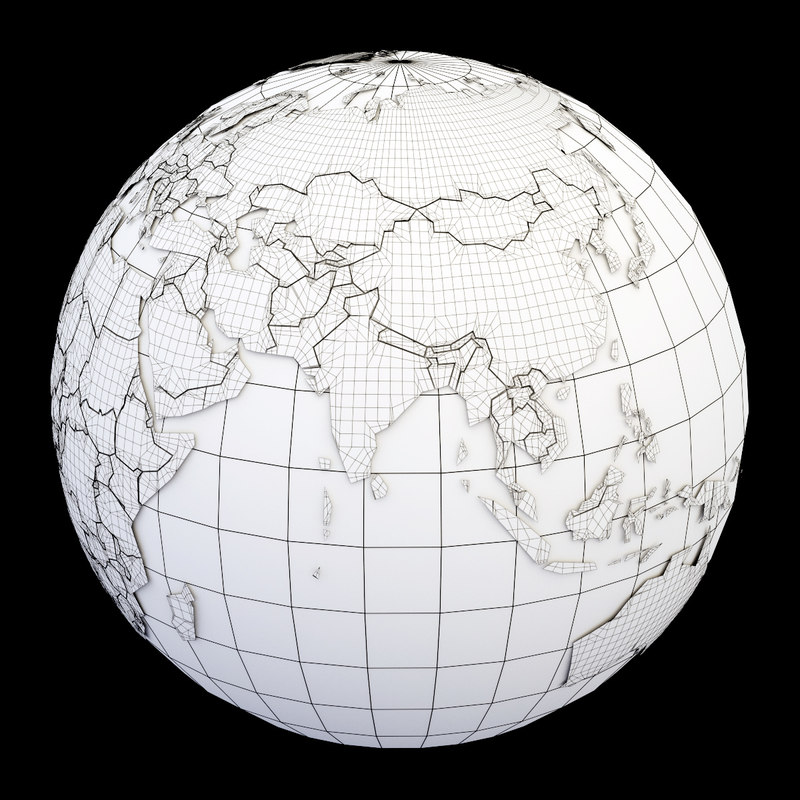 3ds max globe political maps earth gumiabroncs Choice Image