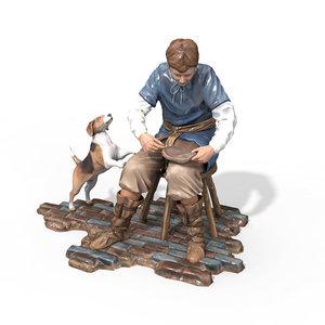 free figurine craftsmen 3d model