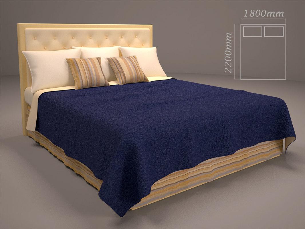 3d model bed cloth