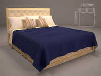 3d model bed cloth