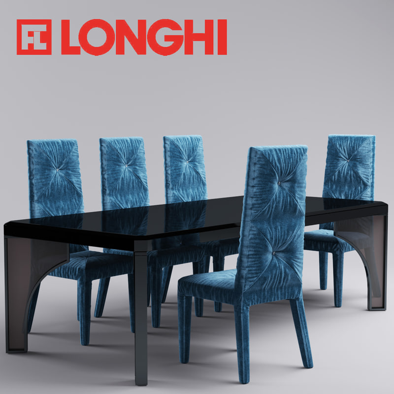 rim chair table 3d model