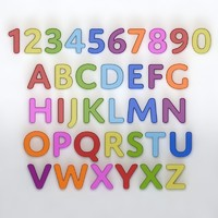 alphabet fridge magnet 3d model