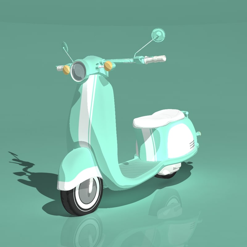 3ds max animation scooter