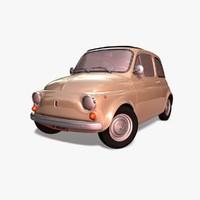 3d fiat 500 1970 car