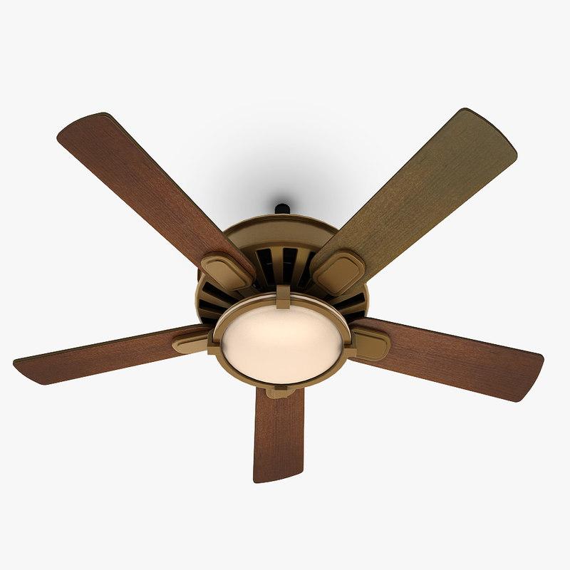 ceiling fan lamp 3d 3ds