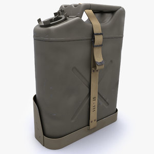 3dsmax jerrycan modelled
