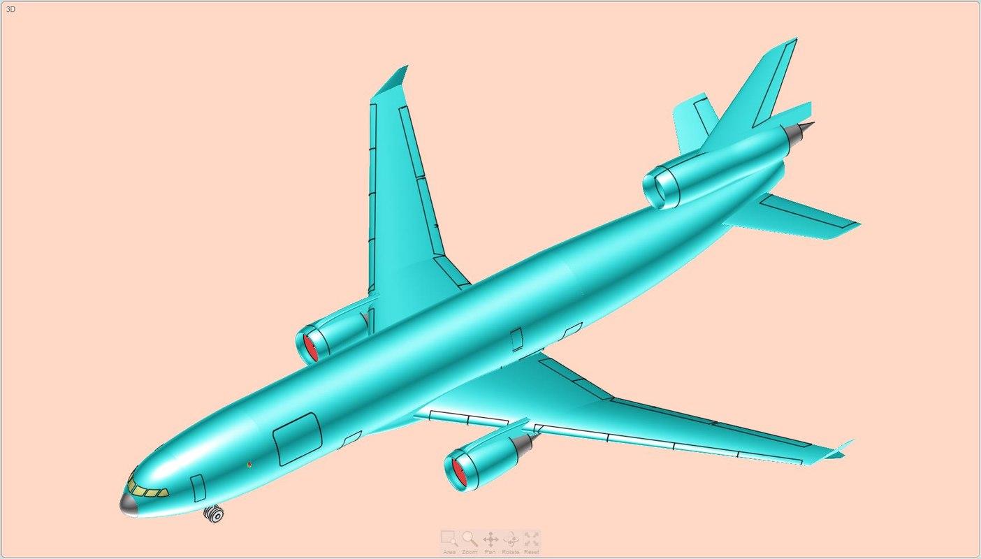 douglas md11f freighter aircraft 3d dwg