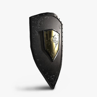 shield medieval 3d obj
