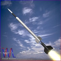 3d model sounding rocket aerobee 300a