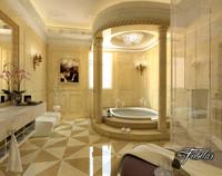 3d bathroom scene