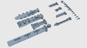 3d low-poly armada