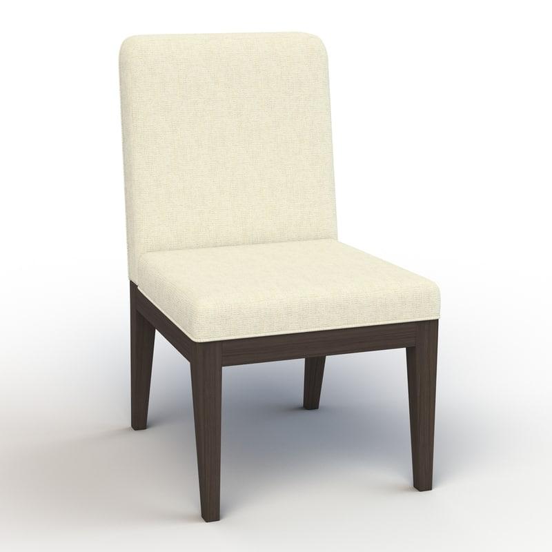 dining chair 3d obj