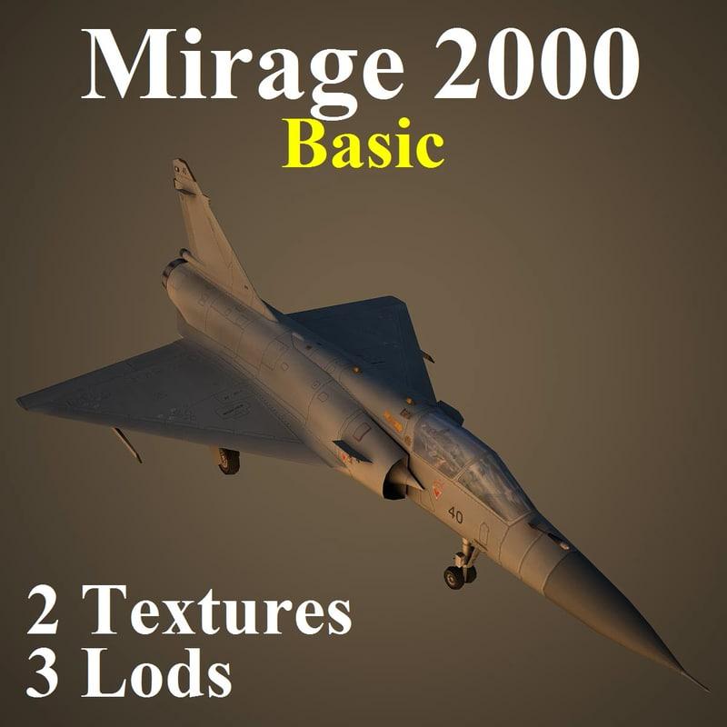 mirage 2000 2 basic 3d model