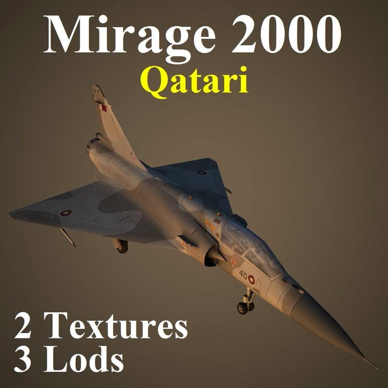 mirage 2000 2 qat 3d max