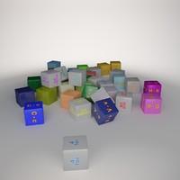 alphabet number cube 3 max