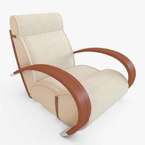 3d armchair walnut