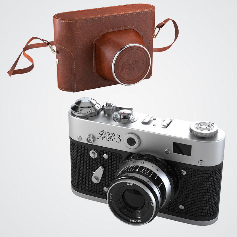 3d fed-3 rangefinder camera