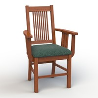vermont armchair chair 3d model