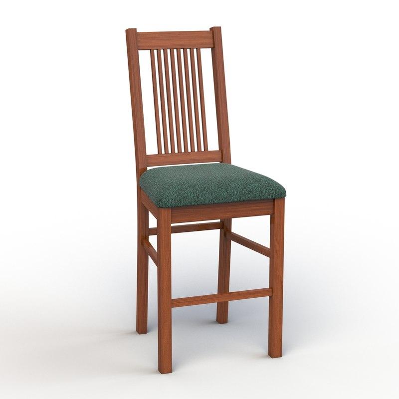 3d vermont tall chair