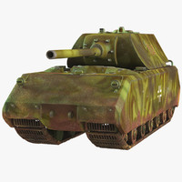 tank panzer viii maus 3d model