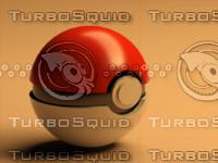 free poke ball 3d model