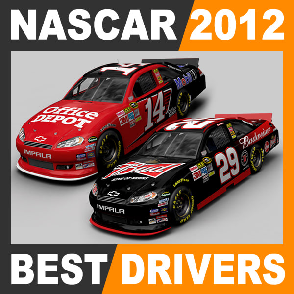lightwave nascar 2012 cars drivers