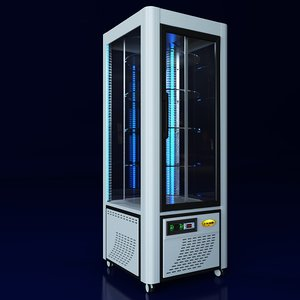 3d refrigerator scaiola linea led model