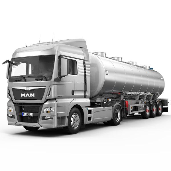 3d model man tgx xlx fuel