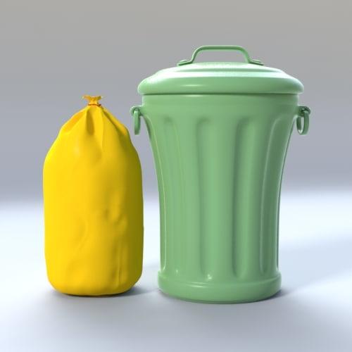 metal plastic bag 3d model