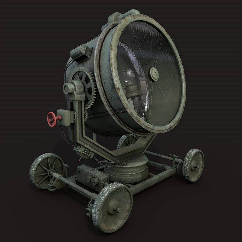 c4d military searchlight