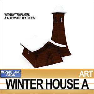 winter house c4d