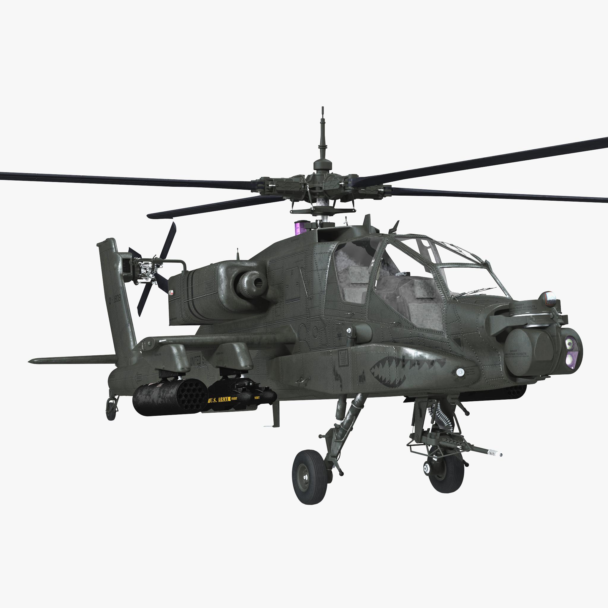3d ah-64 apache