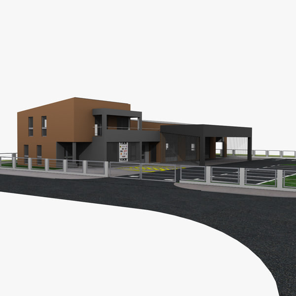 3d model building car workshop