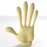 3d model gloved cartoon hand