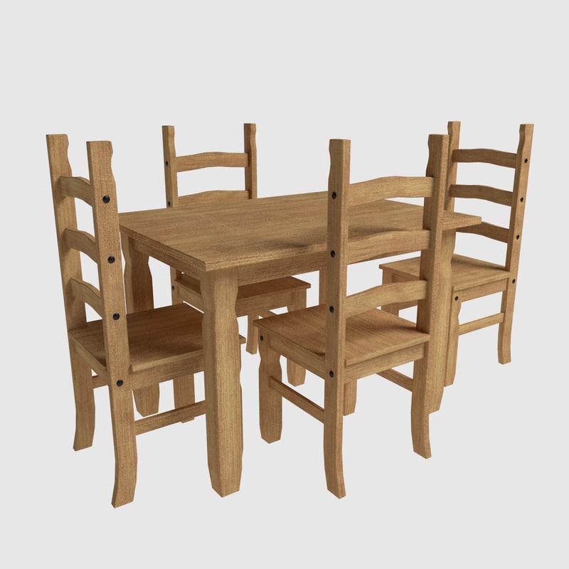 free obj mode dining set corona chairs