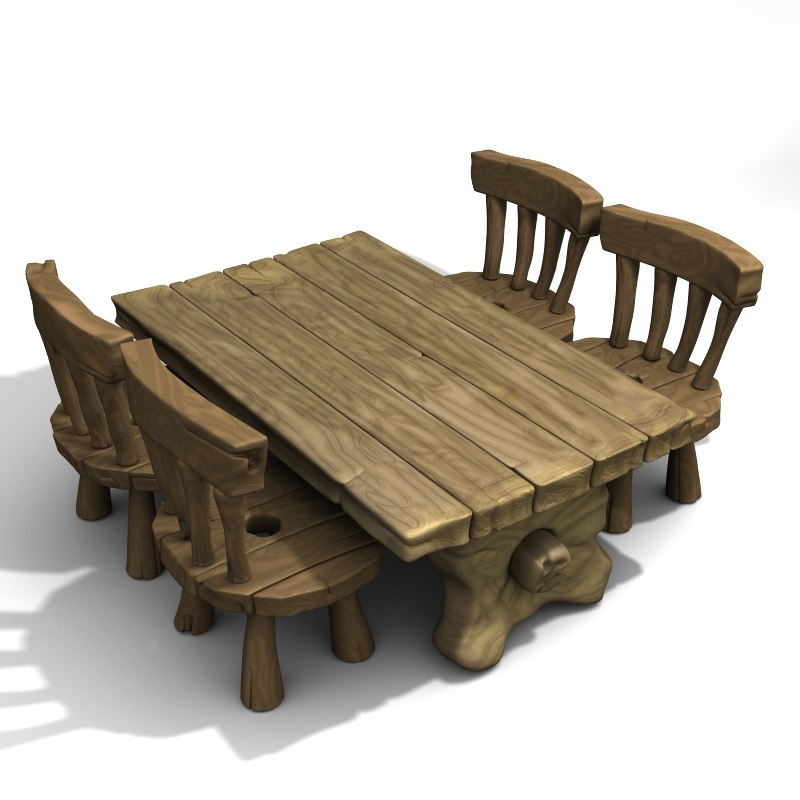 cartoon table set lwo