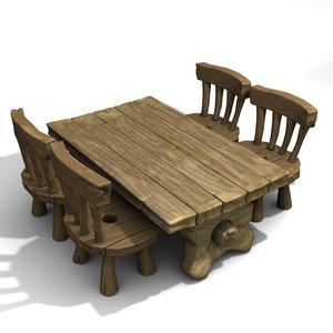 cartoon table set lwo