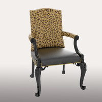 chair art deco 3d model