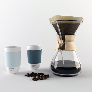 chemex coffee maker 3d model