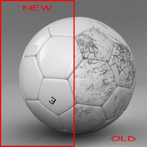 3d ball soccer white