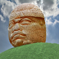 3d aztec olmec head model