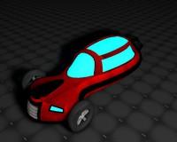 3d c4d space car