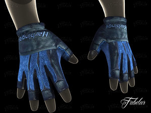 3d weight lifting gloves 2 model