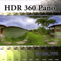HDR 360 Pano 3D Country House01