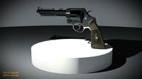 3d model revolver