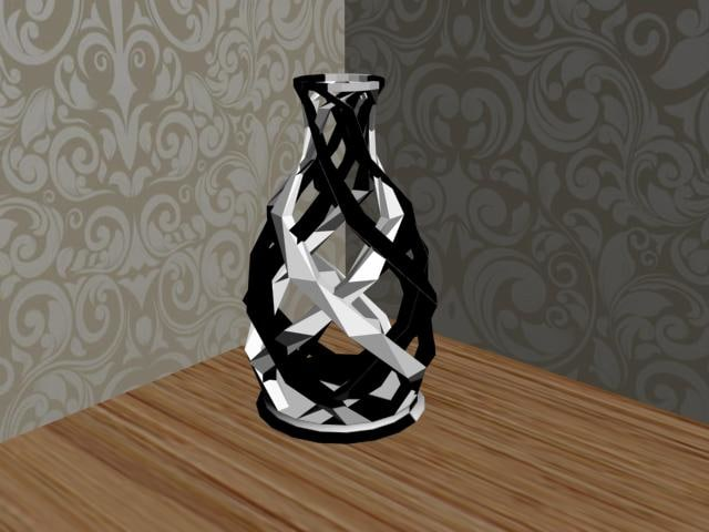 decorative vases 3d dwg
