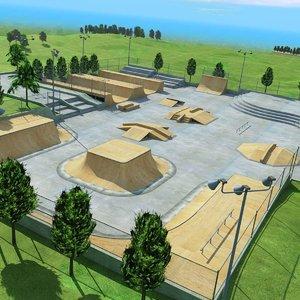 3dsmax skate park outdoor