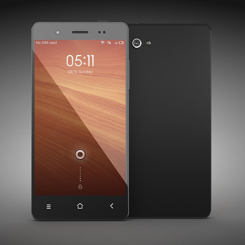 3d noname phone black model