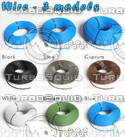 3d model 3 wires metal plastic